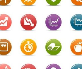 Color Fitness Icons vectors
