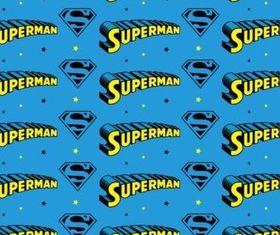 Superman Pattern design vector