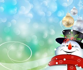 Christmas Snowman background vectors
