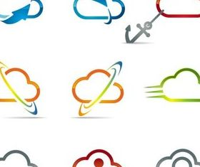 Shiny Clouds creative vector