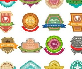 Shiny Product Labels vector graphics