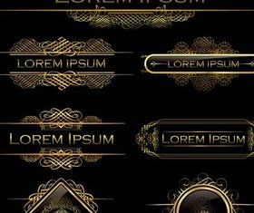 Gold Vintage Elements vector material