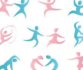 Dance Bright Logotypes vector