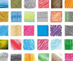Hand-drawn colored line pattern vectors graphic