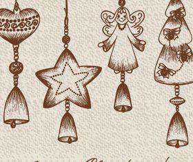 Vintage christmas pendant vector