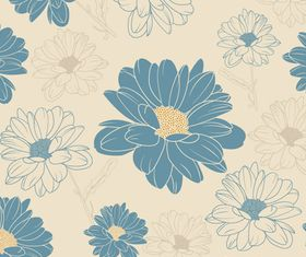 Chrysanthemum pattern vector set
