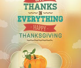 Vintage Thanksgiving Poster 1 vector