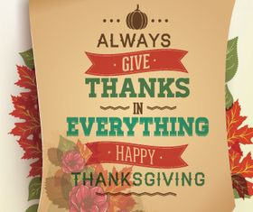 Vintage Thanksgiving Poster 2 vector