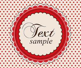 Lace frame background vector