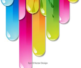 Colored Drop background vector graphics