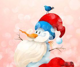 Snowman Sant design vector