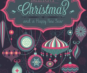 Christmas labels pendant vector design