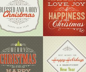 Christmas poster background vector graphic
