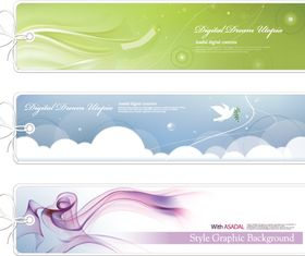 Abstract banners set 2 vector design