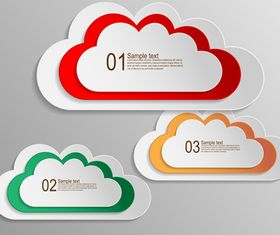 Text cloud number background creative vector