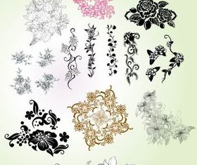 Flower and floral elements vectors graphic