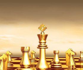 Golden Chess vector