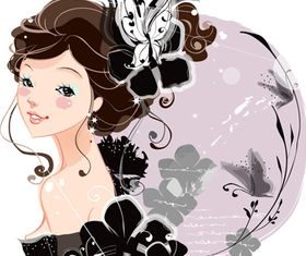 Beautiful girl vector