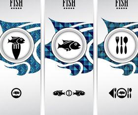 Fish restaurant banner vector