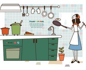 Cartoon Housewife 1 vector