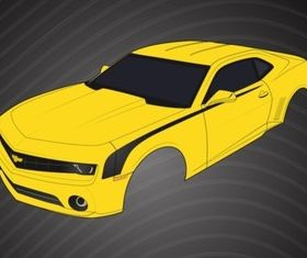 Chevrolet Camaro Parts vector