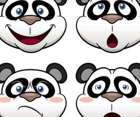 Pandas graphic vectors