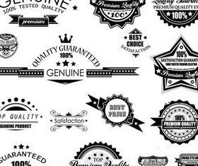 Black Guarantee Labels vector graphics