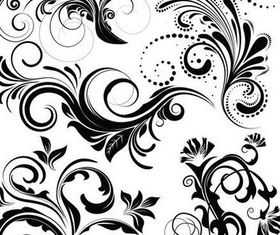 Floral Elements art vectors