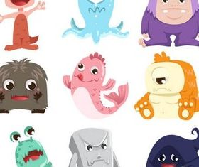 Cartoon Characters art vector