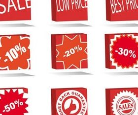 Sale Red Elements set vector