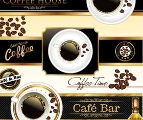 cafe bar creative vector