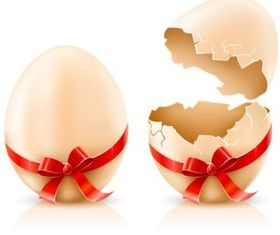 ribbon with egg vector graphics