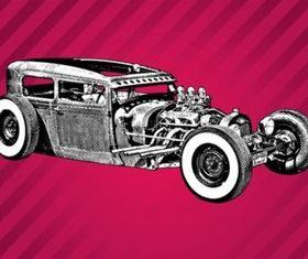 Vintage Car Sketch vectors graphic