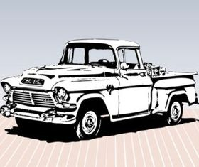 Old Truck Sketch vector