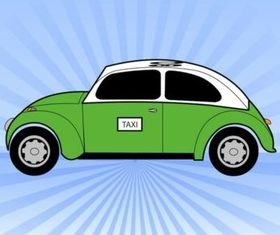 Green Taxi vectors graphic