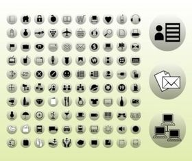 Icons Buttons Graphics vector set