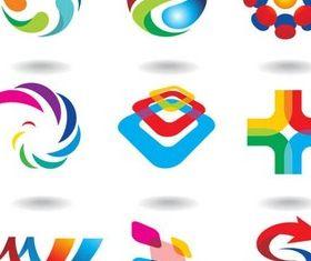 Abstract Logotypes art vector