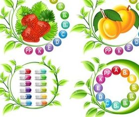 Creative vitamin with Fruit Illustration vector