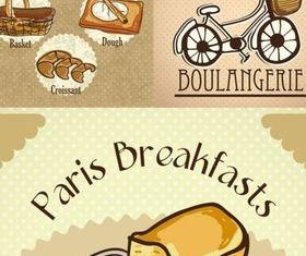 Hand drawn bread design vectors