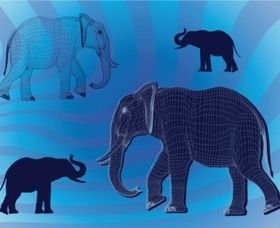 Free Elephant Graphics shiny vector