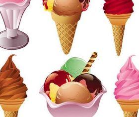 Colorful Ice Cream art vector graphics