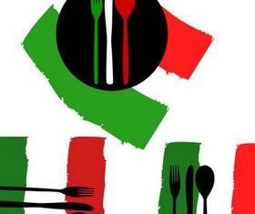Italian Food Logo vector graphic