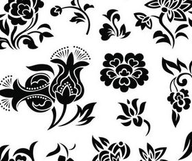 Floral Elements vector graphics