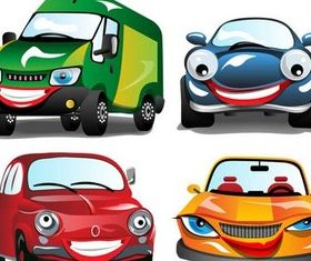 Cartoon Cars free set vector