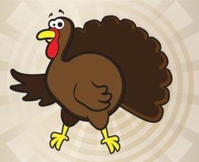 Turkey Cartoon set vector
