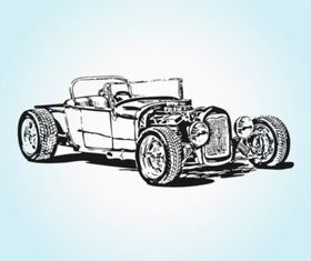 Retro Sport Car Illustration vector
