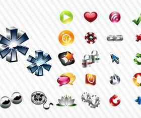 Shiny Icon Set design vector