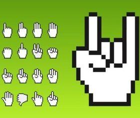 Cursor Hands vector design