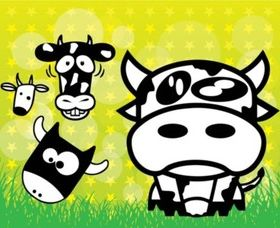 Cows Cartoons vector