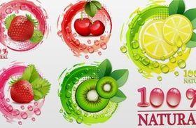 Creative fresh fruit vector design